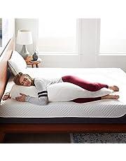 وسادة جسم كاملة من إسفنج ميموري الممزق من لوسيد - للنوم الجانبي - لا تسبب الحساسية - مثالية للحمل - مصنوعة من الحرير الصناعي فائق النعومة من غطاء الخيزران