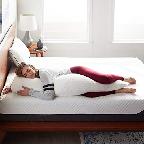 LUCID Shredded Memory Foam Full Body Pillow - Side Sleeper - Hypoallergenic - Perfect for Pregnancy - Ultra Soft Rayon from Bamboo Cover
