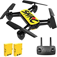 HR Drone with 4K Camera for Beginners Adults and Kids (Yellow)