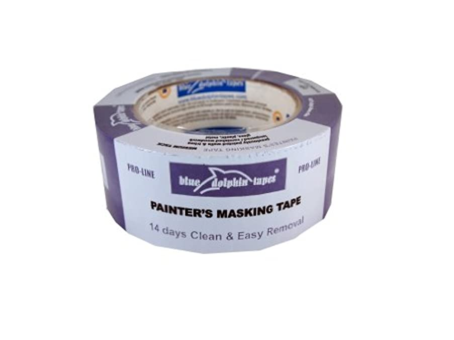 Blue Dolphin 14-Day Masking Tape, Blue 36-Milimeters X 55-Milimeters