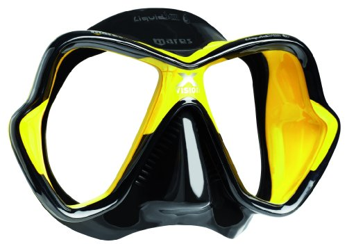 Mares X-Vision LiquidSkin New Tauchermaske 2014 (schwarz/gelb/schwarz)