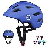 XJD Toddler Helmet Kids Bike Helmet CPSC Certified Multi-Sport Adjustable Helmet for Kids Ages 5-8 Years Old Boys Girls Baby Infant Helmet Safety Cycling Skateboard Helmet Blue S