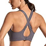 SYROKAN High Impact Sports Bras for Women Wirefree Full Coverage Active Padded Sports Bra The Wild Wood 38DD