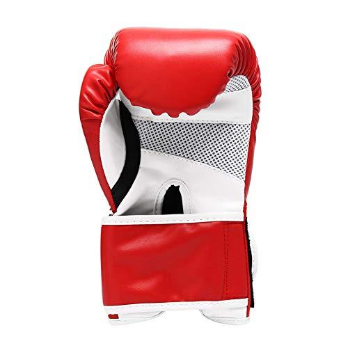 LVJUNQ Guante de Boxeo de 16 oz con Soporte para la muñeca, Hecho de Cuero Genuino, diseño de núcleo de Espuma Multicapa, Transpirable y cómodo, Uso en Mujeres Hombres