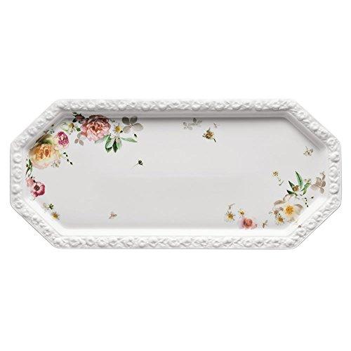 Rosenthal 10430-407165-12844 Plat à Cake Rectangulaire, Porcelaine, Rose, 40,3 x 18,8 x 3,8 cm