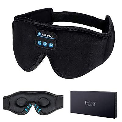 Sleep Headphones, 3D Sleep Mask Bluetooth 5.0 Wireless Music Eye Mask, LC-dolida Sleeping Headphones for Side Sleepers, with Ultra-Thin HD Stereo Speakers Perfect for Sleeping, Air Travel, Meditation by Dolida