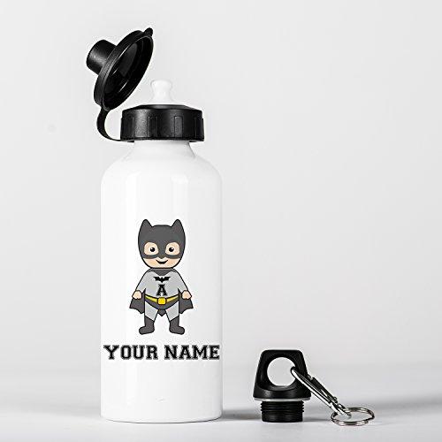 Customized Bat Super Hero Animal Children Kids Personalised Initial and Name Gourde en Aluminium Bottle