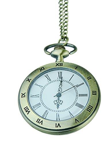 Uhr Kette Taschenuhr TU18 Bronze in Vintage Design mit römischen Zahlen, Umhängeuhr, von Kobert Goods