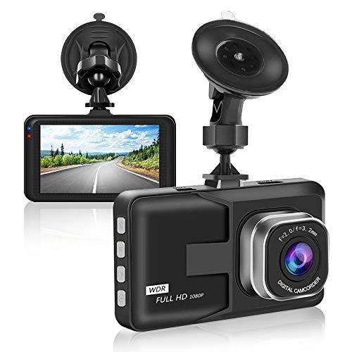 """【2020 Nuova Versione】Aigoss Dash Cam Telecamera per Auto 1080P FHD con 3"""" Schermo LCD, WDR, G-Sensor, Parcheggio Monitor, Registrazione in Loop, Rilevatore di Movimento"""