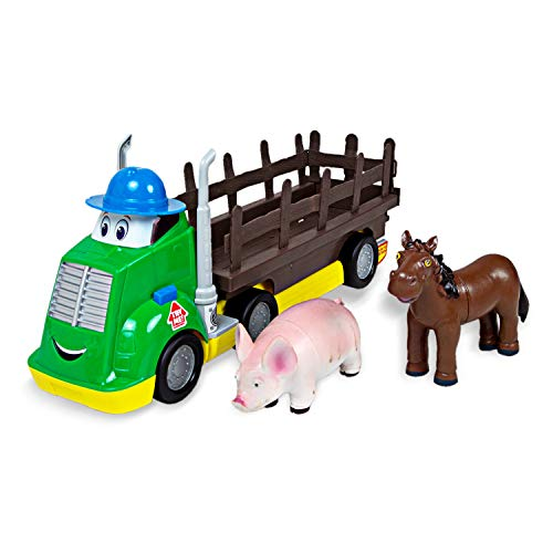 Boley Farm Transporter - 3 Piece Truck and Farm Animal Figures Playset - Farm Animals Toys for Toddlers Boys and Girls Ages 2 and Up