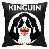 WKLNM Kinguin Penguin - Funda de Almohada Estampada con Cremallera, 18 x 18 Pulgadas, Decorada en casa, sofá, Dormitorio