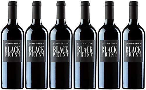Markus Schneider Black Print 2019 6er Paket | Rotwein aus Deutschland (6 x 0.75l) | Trocken | Pfalz