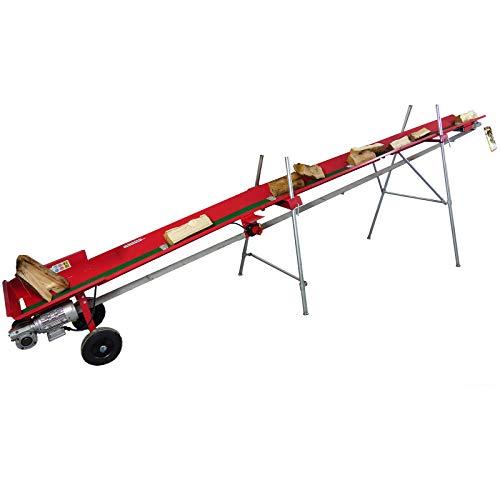 Förderband 400V für Brennholz und andere Materialien 5 Meter Länge und 1,95 Meter Abwurfhöhe Gurtförderer