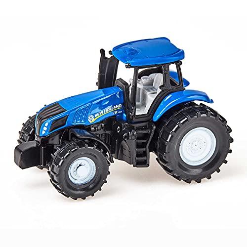 SIKU 1012, Tracteur New Holland T8.390, métal/plastique, bleu/noir, tracteur jouet pour enfants