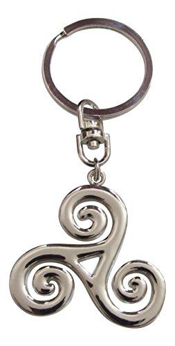 Générique Porte-clés, Bijoux de Sac Symbole Triskel Style Teen Wolf, Acier chromé.