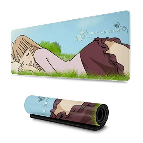 Mauspad,Manga Honig Und Klee Schreibtisch Pad, Präzise Modische Gaming Mauspad Für Office Pc Dekoration,30x80cm
