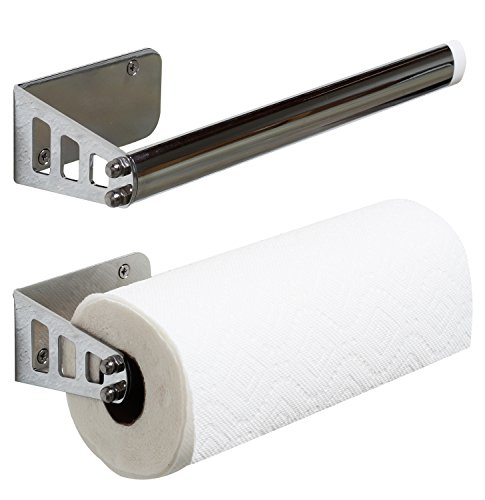 DecoBros Wall Mount Paper Towel Holder Chrome