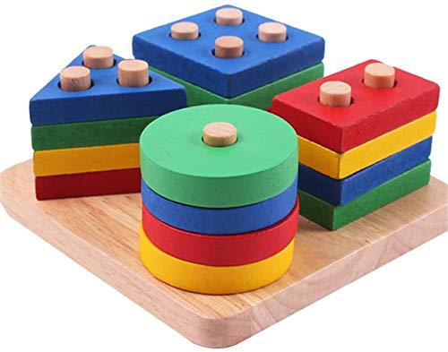 Tabla de Madera de Forma clasificación, Bloques de construcción de clasificación geométricas, Juguetes educativos, la educación reconocimiento de Colores para los niños en Edad Preescolar,a
