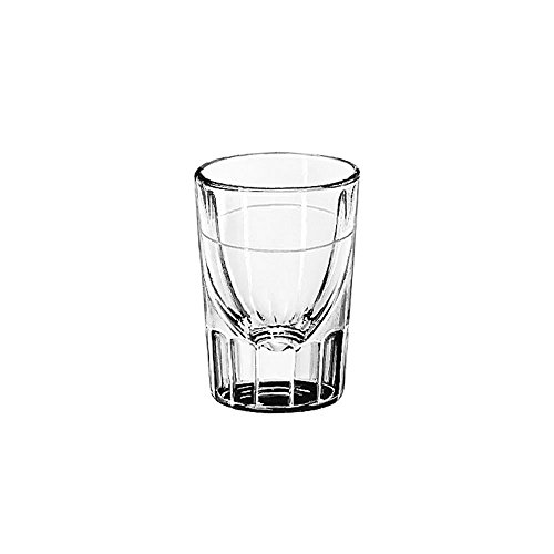 Libbey Lined Fluted 2 oz Whiskey Glass with 1 Oz. Cap Line