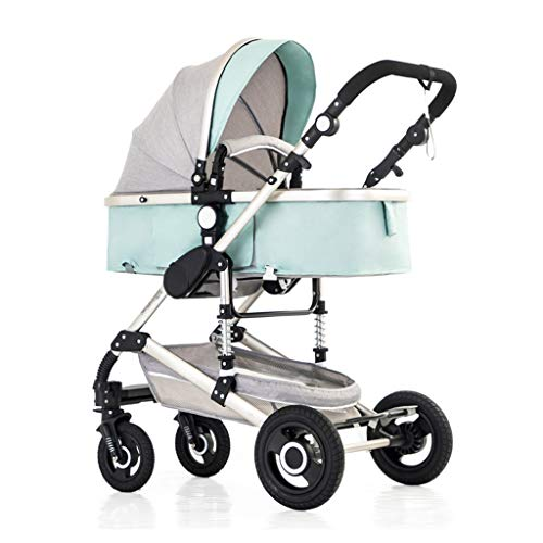 Sistema de viaje de cochecito de cochecito de primera vista ajustable, cochecito de rpemium del carruaje para bebés y cochecitos para bebés con clip de ventilador de cochecitos en la cubierta de la ll