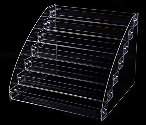 Bonito regalo ディスプレイ スタンド コレクション 収納ケース 小物 コスメ フィギア 展示 透明 アクリル製 雛壇 陳列棚 (7段)