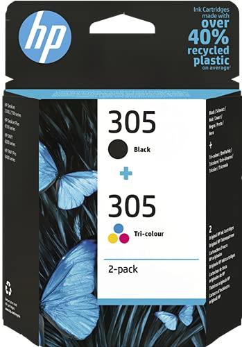 Juego de 2 cartuchos de tinta 3YM61AE negro y 3YM60AE para HP Deskjet 2700 2710 2720 2721 2722 2723 2724 27322752 2755 – Completo de tinta