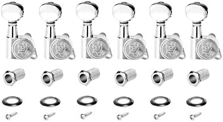 Wilkinson 6 in line E Z LOK Mini Oval Button Guitar Tuners Machine Heads Tuning Pegs Keys Set product image