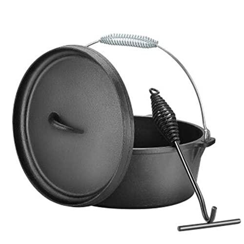 Dutch Oven, 4,9 l BBQ Ofentopf-Set...