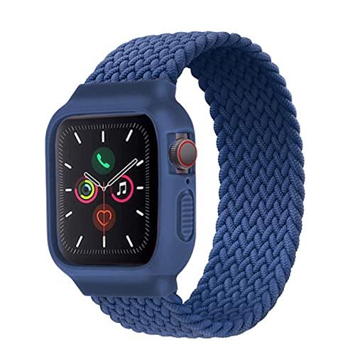 Estuche + Correa para Apple Watch Band 44mm 40mm iWatch band 38mm 42mm Pulsera elástica Trenzada Solo Loop Apple watch series 6 5 4 3 se