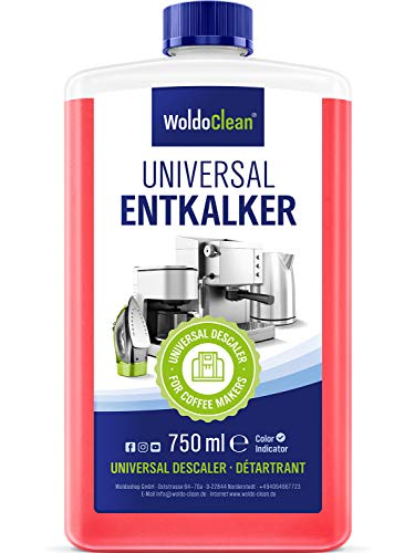WoldoClean Siemens Delonghi Seaco Jura Philips Krups Melitta -  Entkalker für