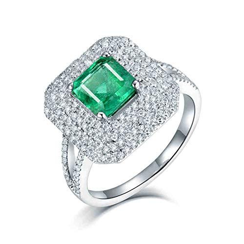 ButiRest Mujer Kein-Metall-Stempel (Mode nur) oro blanco 18 quilates (750) asscher verde Emerald