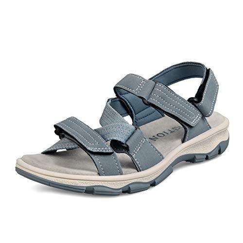 GRITION Damen outdoor Sport Sandalen,Sommer Trekking Walking sneake sportlicher Spazierengehen Bequemer Wandern Wandersandalen Strand schuhe offenen Zehen Wasserschuhen.