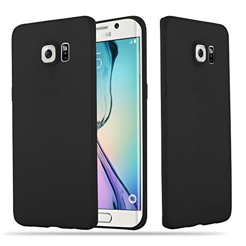 Cadorabo Hülle für Samsung Galaxy S6 Edge Plus - Hülle in Candy SCHWARZ – Handyhülle aus TPU Silikon im Candy Design - Silikonhülle Schutzhülle Ultra Slim Soft Back Cover Case Bumper