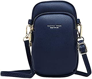 SODIAL Casual Women Shoulder Bag Small Crossbody Bag Crossbody Cell Phone Shoulder Bag Black
