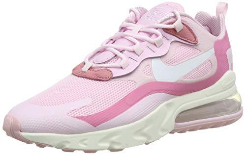 Nike Air MAX 270 React W, Zapatillas para Correr Mujer, Pink Foam White Digital Pink Sail, 39 EU