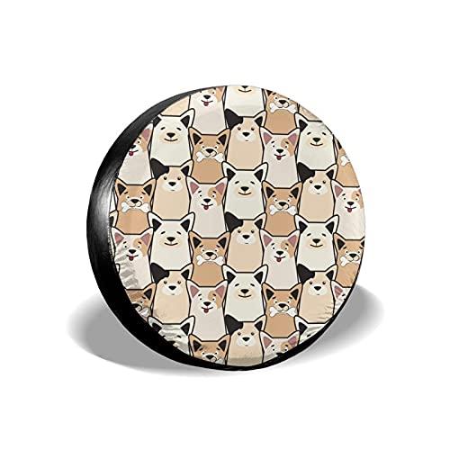 Lewiuzr Lindo Doodle Perro Estampado Animal Potable Poliéster Rueda de Repuesto Cubierta de llanta Cubiertas de Rueda Ajuste Universal