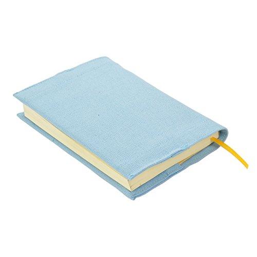 Kuaiブックカバー文庫サイズ16×24cmカラフルシンプルプレーン(ペールターコイズ)