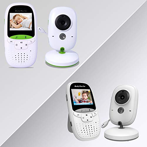 MARKBOARD draadloze babymonitor, babyfoon met camera, babyvideo, met intercomfunctie, digitaal met temperatuursensor, slaapliedjes, nachtzicht
