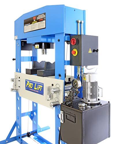 Pro-Lift-Werkzeuge Hydraulikpresse 100t Werkstattpresse Elektro-Hydraulisch blau Industrie-Presse Doppeltwirkend Shop-Press Druckanzeige Hydraulik 100 Tonnen