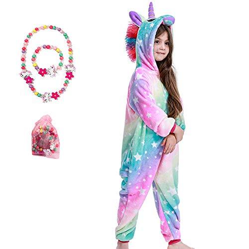 LINKE Pijama De Unicornio para Niña,Arcoíris Claro,13-14 Años