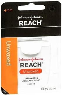 Johnson and Johnson Reach Dental Floss, Unwaxed - 50Yards (Pack 2)