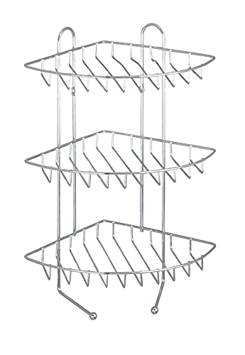 Wenko Exclusiv Angoliera, 3 Ripiani, 2 Ganci, Acciaio, 30 X 44 X 27 Cm, Cromo