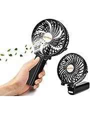 携帯扇風機 バッテリー内蔵 充電式 扇風機 手持ち 2000mAh 卓上扇風機 折りたたみスタンド機能