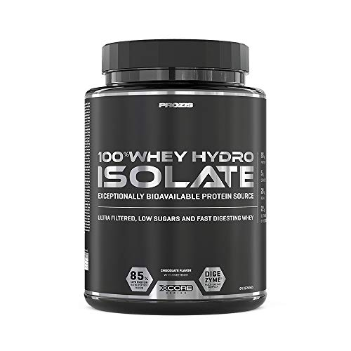 XCore 100% Hydro Whey Protein Isolate SS Powder 2000g - Best Tasting Chocolate for Fat Burning, Muscle Recovery and Bodybuilding. Easy to Digest With Low Carb - 64 Servings!
