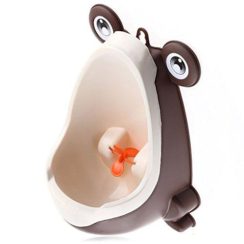 Cute Frog garçons Potty, à suspendre Enfant debout Urinoir Séparation solide Ventouse WC d'entraînement avec rotation du ventilateur