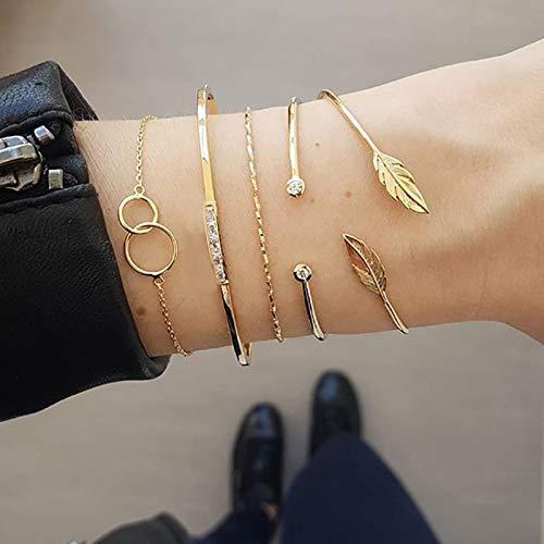 ShFhhwrl Hand Bangle Bracelets Jewellery For Womens Simple Women Bracelets Multilayer Chain Tassel Pendant Bracelet Set Dance Par