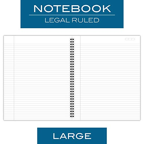 "Cambridge Business Notebook, 80 Sheets, Legal Ruled, 8-1/4"" x 11"", Wirebound, Gray (06062)"