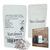 Naturellia Acido Hialuronico Polvo 5 Gramos 1500 k-Dalton Altamente Concentrado - Alto Peso...