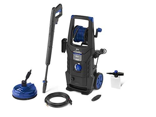 AR Blue Clean e-2 DUALSPEED D Idropulitrice ad Alta Pressione con Dual Speed System, Sonda Sturatubi e Patio Cleaner (2200 W, 160 bar, 460 l/h), Nero/Blu