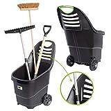 UPP Multifunktions-Gartentrolley | Mobiler Gerätehalter und Transportwagen | Gartenhelfer fässt 65 Liter und hält 50 kg